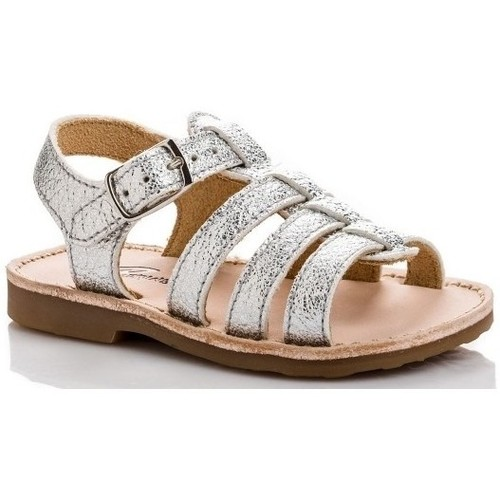 Chaussures Fille Sandales et Nu-pieds Reqin's Sandale Jil Metal Argenté