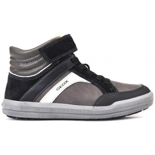 Chaussures Garçon Baskets montantes Geox Basket J Arzach B.C Gris
