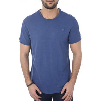Vêtements Homme T-shirts manches courtes Guess T-shirt Col Rond Homme M82i03 Bleu