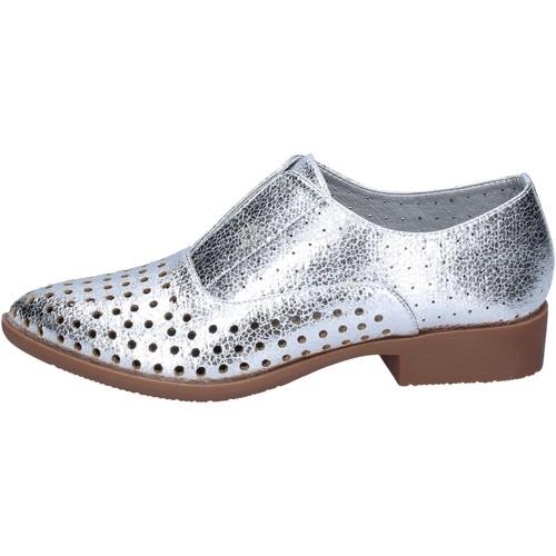 Chaussures Femme Derbies & Richelieu Francescomilano élégantes argent cuir synthétique BS73 argent