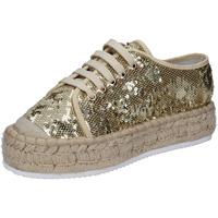 Chaussures Femme Baskets basses Francescomilano sneakers platine textile paillettes BS77 PLATINE