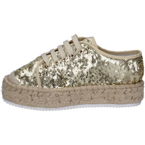 Chaussures Femme Baskets basses Francescomilano sneakers platine textile paillettes BS77 PLATINE