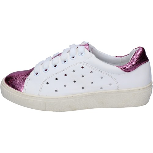 Chaussures Femme Baskets basses Francescomilano sneakers blanc rose cuir synthétique BS78 blanc