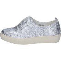 Chaussures Femme Slip ons Francescomilano mocassins argent cuir synthétique BS79 argent