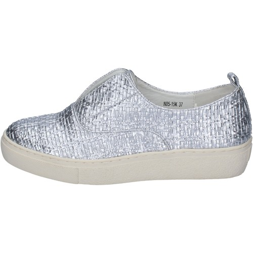 Chaussures Femme Slip ons Francescomilano mocassins argent cuir synthétique BS79 argent