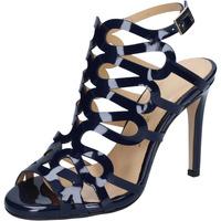 Chaussures Femme Sandales et Nu-pieds Olga Rubini sandales bleu cuir brillant BS91 bleu