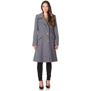 Vêtements Femme Manteaux De La Creme Manteau d'hiver militaire en laine cachemire Grey