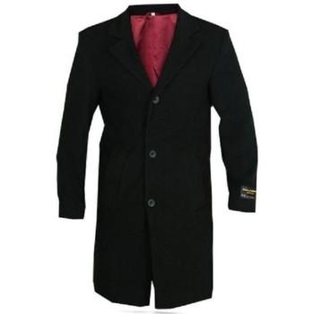 Vêtements Homme Manteaux De La Creme Manteau d'hiver en laine et cachemire Black