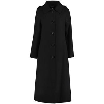 Vêtements Femme Manteaux De La Creme Long manteau d'hiver à capuche détachable Black