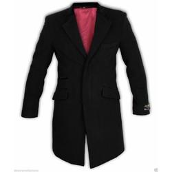 Vêtements Homme Manteaux De La Creme Manteau en velours de laine et cachemire Black