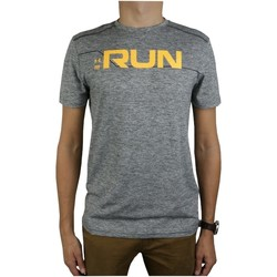 Vêtements Homme T-shirts manches courtes Under Armour Run Front Graphic SS Tee Grise