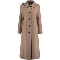 Vêtements Femme Trenchs De La Creme Long manteau d'hiver détachable pour femmes avec capuche BEIGE