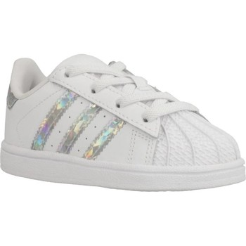 Chaussures Fille Baskets basses adidas Originals SUPERSTAR EL I Blanc