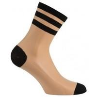 Accessoires Femme Chaussettes Kindy Socquettes en voile avec rayures Chair
