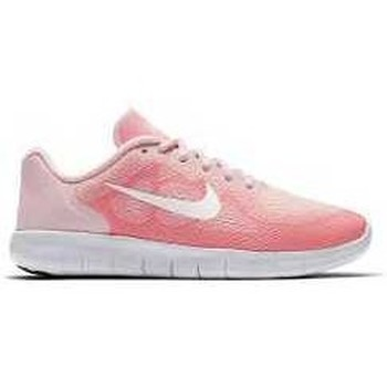 Chaussures Fille Running / trail Nike Chaussures Running Enfant  Free Rn 2017 Gs Rose