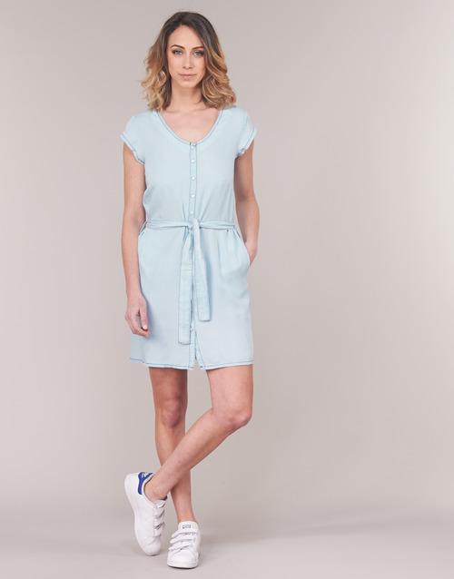 Femme Courtes Yurban Koulienne Bleu Robes Clair j354RAL