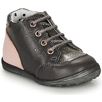 Chaussures Fille Boots Catimini CLELIA Gris / Rose