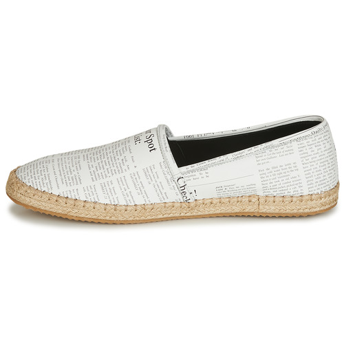 Homme John Galliano Blanc Espadrilles Chaussures 6715 8wPn0Ok