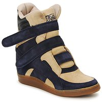 Chaussures Femme Baskets montantes Buffalo GINGERWA Marine / Beige