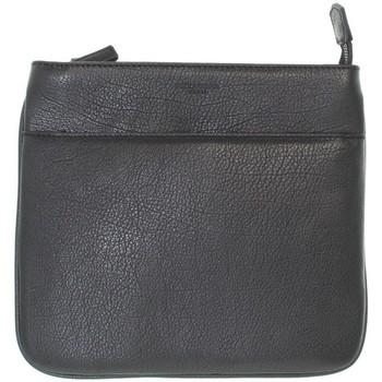 Sacs Femme Besaces Hexagona Sac porté travers  en cuir ref_xga44518 no noir
