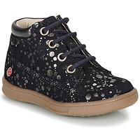 Chaussures Fille Boots GBB NINON Marine / Argenté