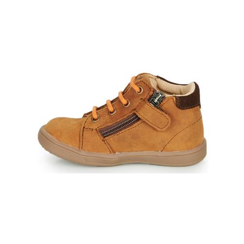 Gbb Follio Cognac - Livraison Gratuite- Chaussures Basket Montante Enfant 5520