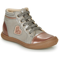 Chaussures Fille Baskets montantes GBB OTANA Gris / Rose