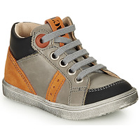 Chaussures Garçon Baskets montantes GBB ANGELITO GRis / Orange