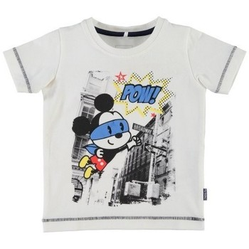 Vêtements Garçon T-shirts manches courtes Name It Kids T-shirt Nitfolkeson Blanc