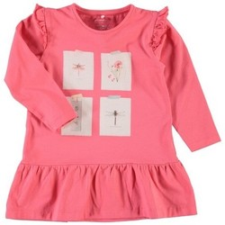Vêtements Fille T-shirts manches longues Name It Kids Tunique  Nitelina Calypso Coral Noir