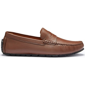 Chaussures Homme Mocassins Hugs & Co. Mocassins Pneu Penny cuir fleur Marron