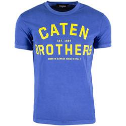 Vêtements Homme T-shirts manches courtes Dsquared DSQTSHUA172ST0293805 bleu