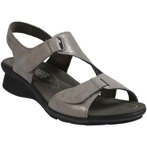 Chaussures Femme Sandales et Nu-pieds Mephisto PARIS Taupe cuir