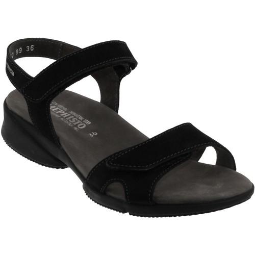 Chaussures Femme Sandales et Nu-pieds Mephisto Francesca Noir nubuck