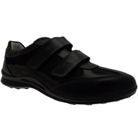 Chaussures Homme Baskets basses Loren  cuir art G0250 Goretex noir Velcro baskets nero