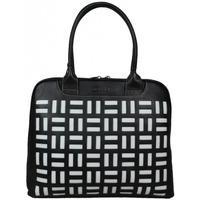 Sacs Femme Sacs porté épaule Texier Grand sac épaule cuir arrondi  noir blanc 10363 Noir / Blanc