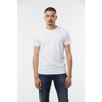 Vêtements T-shirts manches courtes No Name T-Shirt coton  CALVIN White
