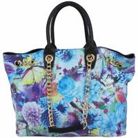Sacs Femme Sacs porté main A Découvrir ! Sac à main motif effet verni floral et papillons SP0271 Noir
