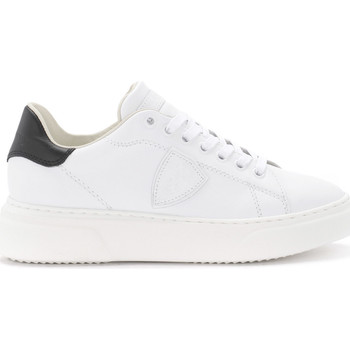 Chaussures Femme Baskets basses Philippe Model Paris Sneaker Temple in pelle bianca e nera Blanc