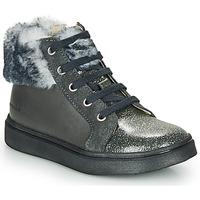 Chaussures Fille Baskets montantes Catimini MARCELLE VTS GRIS DPF/FLORA