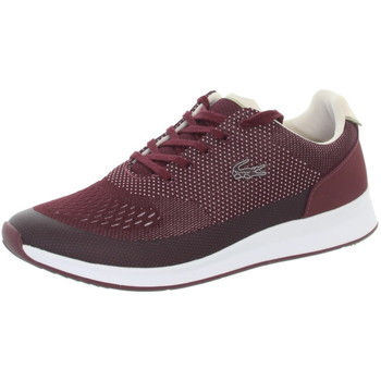 Chaussures Femme Baskets basses Lacoste Baskets femme  ref_45121 Burgundy/White rouge