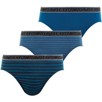 Vêtements Homme Boxers / Caleçons Athena Lot de 3 slips homme Tonic granderayurebleuefinerayurebleueunibleu