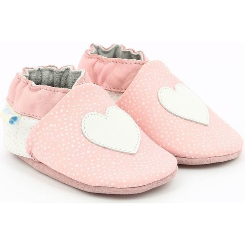 Chaussures Fille Chaussons bébés Robeez Love Is Here ROSE