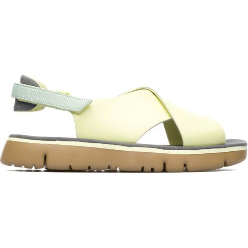 Chaussures Femme Sandales et Nu-pieds Camper Sandales cuir ORUGA jaune