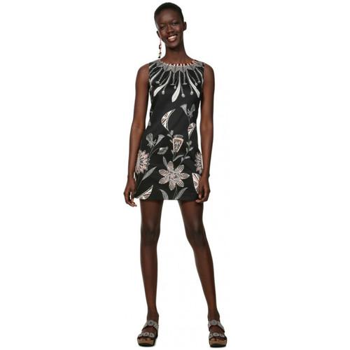Vêtements Femme Robes courtes Desigual Robe imprimé fleurs Kira Noir 19swvwb3