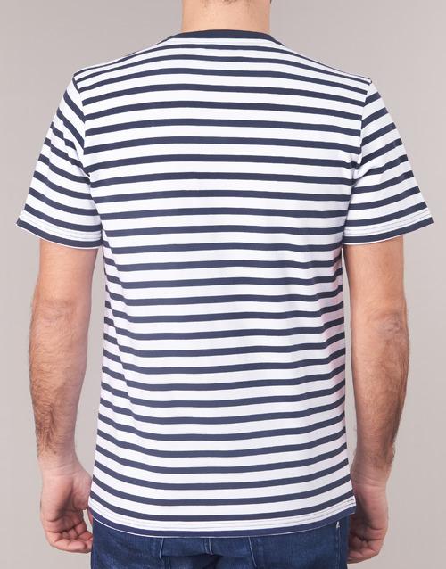 Casual T MarineBlanc Homme shirts Courtes Karale Attitude Manches cA4RLqS53j
