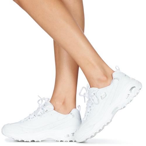 Skechers D\'lites Blanc - Livraison Gratuite- Chaussures Baskets Basses Femme 5950 Js4ep