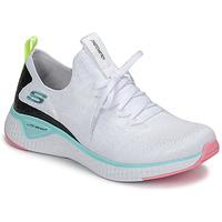 Chaussures Femme Fitness / Training Skechers FLEX APPEAL 3.0 Blanc / Rose / Bleu