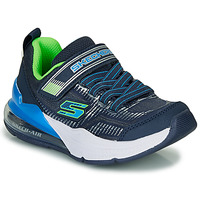 Chaussures Garçon Baskets basses Skechers SKECHERS BOY Bleu / Vert