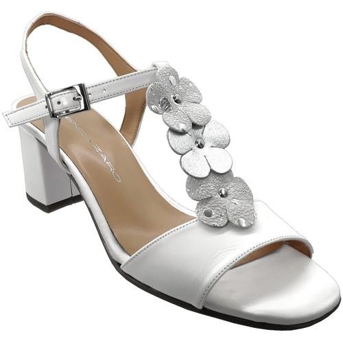 Chaussures Femme Sandales et Nu-pieds Brenda Zaro F3242 Blanc cuir